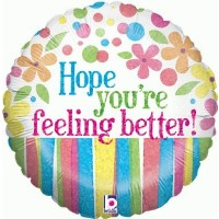 "Hope You're Feeling Better - Flowers 18"" Foil Balloon"