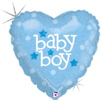 "Baby Heart Boy 18"" Foil Balloon"