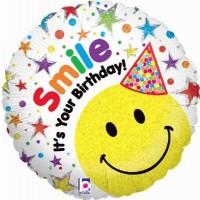 "Smile It's Your Birthday! 18"" Foil Balloon"