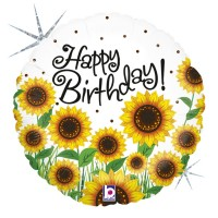 "Sunny Sunflowers Birthday 18"" Foil Balloon"