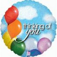 "Thinking of You Balloon Sky Holographic - 18"" foil balloon"