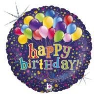 """Happy Birthday Balloons 18"""" Foil Balloon"""