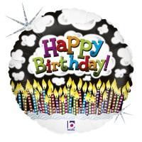 "Birthday Candles 18"" Foil Balloon"