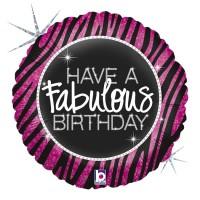"Fabulous Zebra 18"" Foil Balloon"