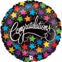 "Colourful Stars Congratulations 18"" Foil Balloon"