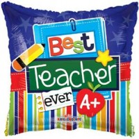 Best Teacher Ever 18 inch Foil Balloon