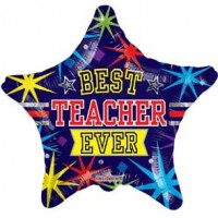 "Best Teacher Ever Star 18"" Foil Balloon"