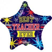 """Best Teacher Ever Star 18"""" Foil Balloon"""