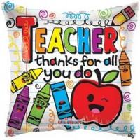 Teacher Thanks for All You Do 18 inch Foil Balloon
