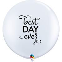 Best Day Ever - Wedding 3ft Round Balloons 2ct