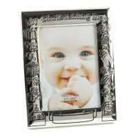 """On Your Christening Day - SIlver Plated Photo Frame 3.5""""X5"""""""