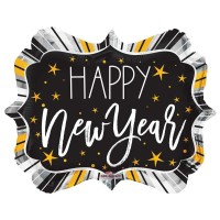 "Happy New Year Shape 18"" Foil Balloon"