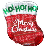 "Ho! Ho! Ho! Stocking 18"" Foil Balloon"