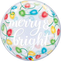 "Merry and Bright Lights 22"" Single Bubble"