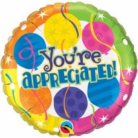 You're Appreciated - 18inch Foil Balloon