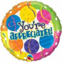 You're Appreciated - 18inch Foil Balloon