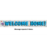 Welcome Home Foil Banner - 12Ft.