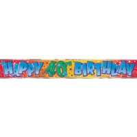 Happy 40th Birthday - Banner