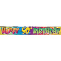 Happy 50th Birthday - Banner
