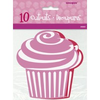 Mini Cupcake Cutouts - Red/Pink