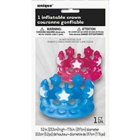 Inflatable Crown - Assorted Colours