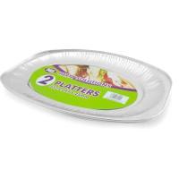 Foil Platters 352x247x25mm 2pcs