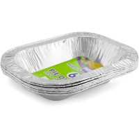 Rectangular Foil Pie Dish 195x145x35 6pcs