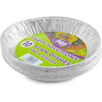 Foil Flan Dishes 180x25mm 10pcs