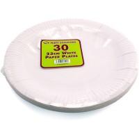 White Paper Plates 23cm 30pcs