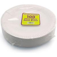 White Paper Plates 23cm 100pcs