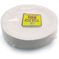 White Paper Plates 23cm 100pcs (Full Carton x10)