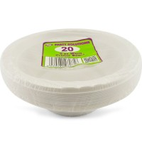White Plastic Bowls 5oz 20pcs