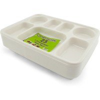 Food Tray with 7 Large Sections 25pcs