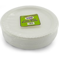 White Plates 23cm 100pcs