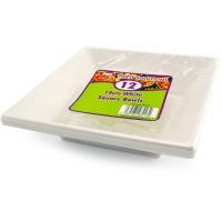 White Square Bowls 18cm 12pcs
