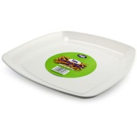White Serving Plate 40cm 1pc
