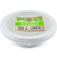 Bio Degradable White PLA Eco Bowl 12oz 18pc