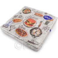 Hamburger and Pizza Napkins 3ply 20pc