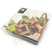 Autumn Mushrooms Napkins 3ply 20pc