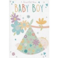 A Beautiful New Baby Boy - Pack Of 12
