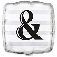 "AMPERSAND SQUARE 18"" FOIL BALLOON"