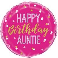 "Happy Birthday Auntie 18"" Foil Balloon"