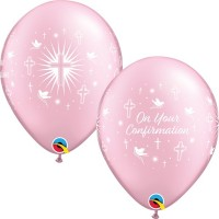 "On Your Confirmation 11"" Pink Latex Balloons 25Ct"