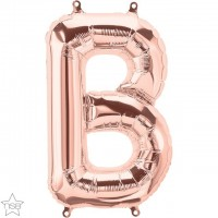 "Rose Gold Air Filled 16"" Letter B Foil Balloon"