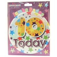 Age 10 Unisex Party Badge (15cm)