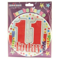 Age 11 Unisex Party Badge (15cm)