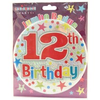 Age 12 Unisex Party Badge (15cm)