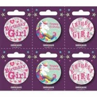 Birthday Girl Small Badges (5.5cm)