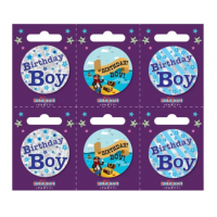 Birthday Boy Small Badges (5.5cm)