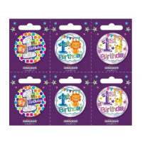 Age 1 Small Badges (5.5cm)